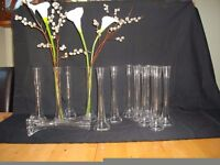 Is a wedding coming up if so here are 2x8 glass vases for center of table flowers