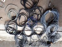 Microphone and PA cables - Various lengths