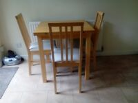 Dining table & 2 chairs (IKEA Extending table )