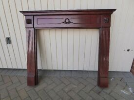 Mahogany Fire Surround - excellent quality and condition (could make shabby chic)