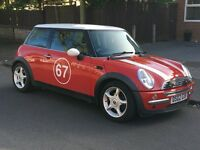 MINI COOPER CHILL PACK 1.6 2002 02 REG 3 OWNER LOW MILES 84000 SERVICE HISTORY 2 X KEYS P/X WELCOME