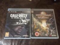X2 PS3 Games Mortal Kombat vs DC Universe & Call of Duty Ghosts