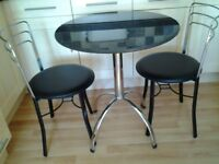 John Lewis granite top bistro table and two chairs