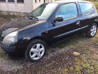 02 Renault Clio for sale 1.2 Long mot