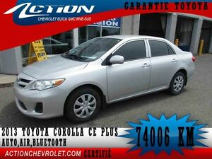 2013 Toyota COROLLA CE PLUS, Auto,air,bluetooth