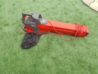 FLYMO GARDEN VAC WITH HOOVER BAG COLLECTS ,BLOWS VACUUM.