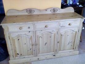 Solid Pine Cupboard/Dresser 2 and 3 Door