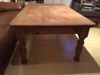 large solid wooden coffee table NW1