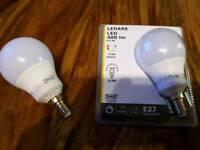 2 Ikea long-life bulbs E27 Ledare 400 lumen