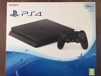 PlayStation 4 500GB Black UK version BN&S with 1 year warranty