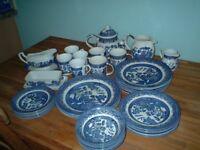 Churchill Blue Willow dinner set