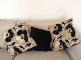 Cream/black next cushions
