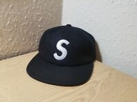 Supreme Black S-Logo 6-Panel cap Deadstock