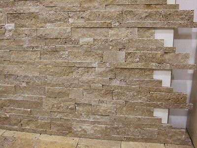 travertin spaltraue naturstein wand verblender riemchen klinker bossen muster - Wand Aus Naturstein