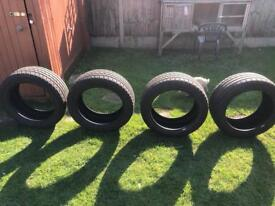 Four Barely Used Tyres (235/50R18 and 255/45ZR18)
