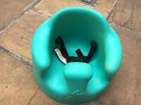 Bumbo green with straps
