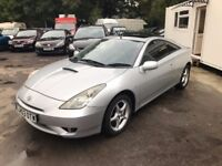 Toyota Celica 1.8 VVT-i 3dr, p/x welcome FREE WARRANTY, FULL HISTORY