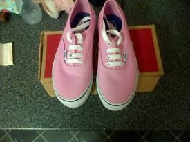 Girls pink vans of the walls