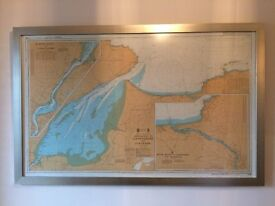 Framed North Coast Chart.