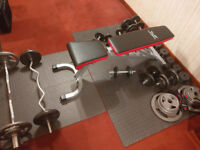 Workout Bench and Weights - Selling the house