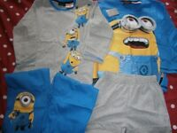 Boys Next Minion Pyjamas 4-5 years Brand new