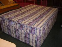 Double Divan Bed Base and Matching Spotless Mattress