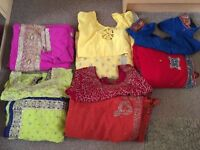 5 Indian Saris. With ready made blouse