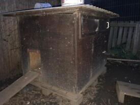 Chicken coop for sale with metal roof