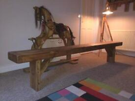 Large reclaimed timber bench seat