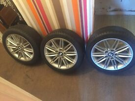 "BMW 1 series alloys 17"" m sport genuine wheels, only have 3"