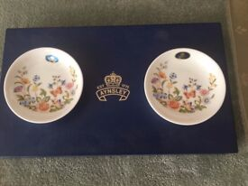 Aynsley Cottage Garden trinket dishes, box of 2. Unused, boxed.