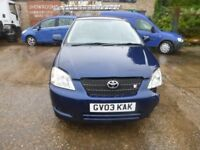 TOYOTA COROLLA - GV03KAK - DIRECT FROM INS CO