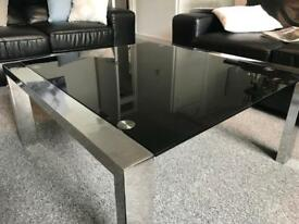 Stylish black and chrome coffee table REDUCED PRICE FOR QUICK SALE