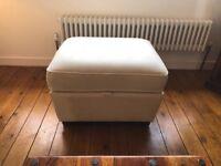 M&S Nantucket Cream Sofa and Footstool