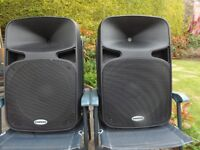 PAIR OF SAMSON AURO D415 ACTIVE SPEAKERS