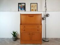 Vintage Mid Century Medium Teak Slim Compact G Plan Style Retro Bureau Sideboard #442