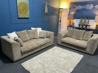 Brown Cord Sofas. 3 and 2 seater suite