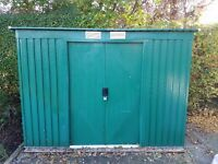 Green Metal Pent Shed 8x4ft