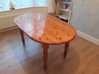 6 Seater Pine Dining Room Table Rugby