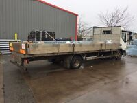 DAF , 3400KG PAYLOAD FLAT BED LORRY.