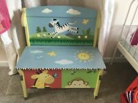 Wooden jojo maman Bebe jungle themed storage bench seat