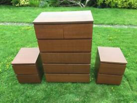 Ikea bedside tables and chest of drawers