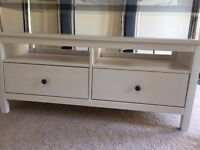 IKEA White 2 drawer TV Unit/Stand