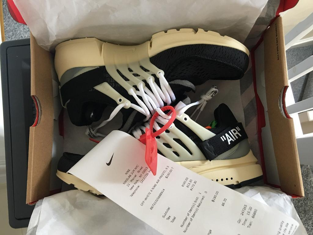 4ef3a10265a1 Nike x Off White Air Presto Size UK 8.5 Authentic with Receipt.