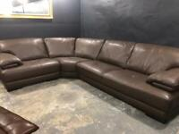 Top quality natuzzi leather corner sofa