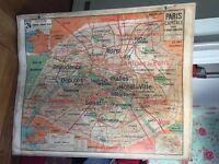Genuine vintage French school maps