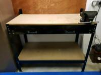 Workbench with vice garage