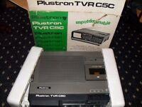 Retro Plustron TVR C5C TV, radio, and tape deck.
