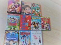 18 DVDs FAMILY KIDS CHILDRENS DVD FILMS,reef,tintin,thunderbirds,superman,horrid henry,elf,meatballs