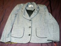 LADIES BLACK AND WHITE JACKET BY ROMAN ORIGINALS SIZE 16